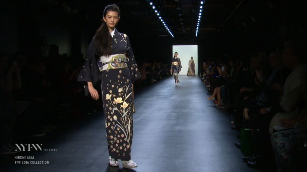 ニューヨークファッションウィーク 着物ランウェイショー